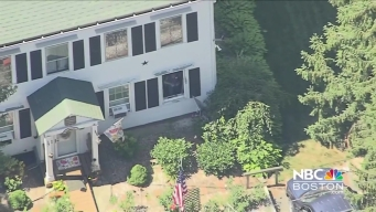 Tire Flies into Home in Plainville, Massachusetts