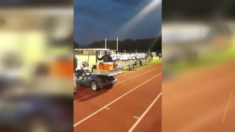 Soccer Teams Join Together to Sing National Anthem