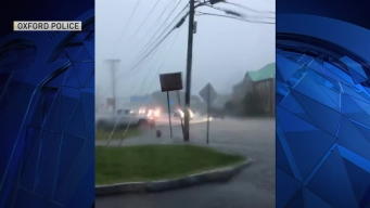 Storm Causes Flooding in Oxford, Mass.
