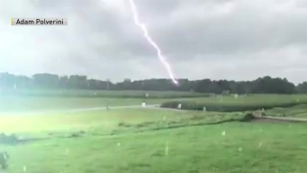 Lightning Strike in Hadley, Mass.