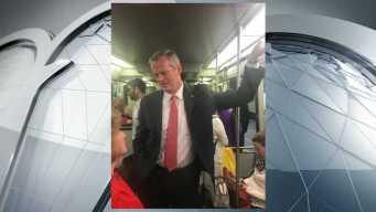 Gov. Charlie Baker Rides the MBTA