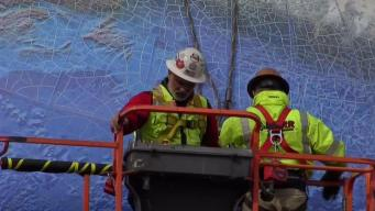 Babson College Moves Historic Globe Structure