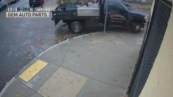 Video Released After Stolen Truck Nearly Hit Boston Officers