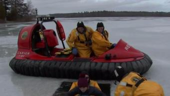 Carver Fire Department Uses Hovercraft for Rescues