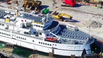 Coast Guard Monitoring Repairs of Ferry That Stranded