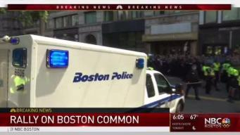 Number of Counter Protesters Arrested at Boston Common