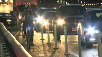 Cyclists Fight to Keep Lane Protectors on Longfellow Bridge