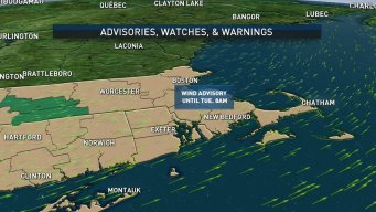 Wind Advisory Issued for Parts of New England