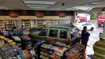 Footage Shows Car Crash Into Dayville Gas Station