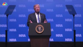 """Trump at NRA Thanks Kanye, Says Mueller Probe a """"Witch Hunt"""""""
