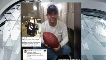 Fan Who Saved Brady Jersey From Fire Gets Signed Ball