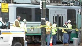 Green Line Train Derails in Boston