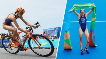 USA's Gwen Jorgensen Wins Gold in Women's Triathlon