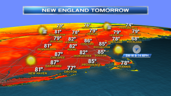 Showers Make Way for Hot Wednesday