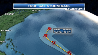 Tropical Storm Karl on the Move