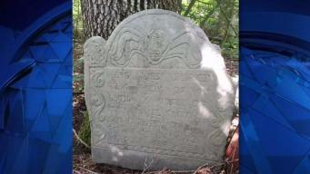 Homeowner Finds Displaced 18th Century Headstone