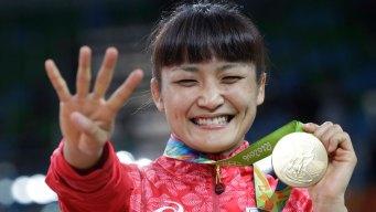 Japan Sweeps 1st Day of Women's Wrestling Golds