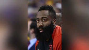James Harden's Eyes Appear Bloodshot After On-Court Injury