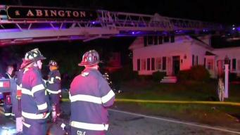 Man Hurt in Abington House Fire