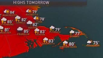 Showers, Increased Humidity to Begin Sunday