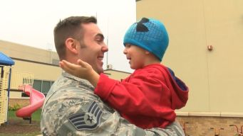 US Airman Surprises Toddler Son After 8 Months Away