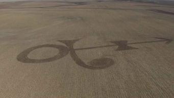 Farmer Mows Prince Symbol Into North Dakota Field