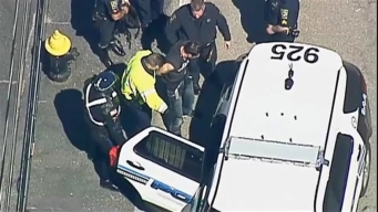 Suspect in Mass. Police Chase in Custody
