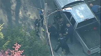 AERIAL FOOTAGE: Police Arrest Suspect After Interstate Chase