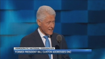 Former President Bill Clinton Addresses DNC