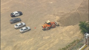 Police at Site Where Human Remains Were Found