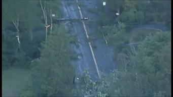 Aerial View of Tornado Damage
