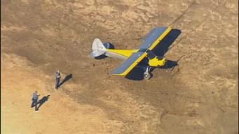 Police at Scene of Emergency Plane Landing at Quabbin