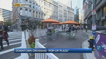Experimental'Pop-Up' Plaza Opens in Downtown Crossing