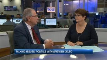 Talking Issues, Politics With Speaker DeLeo