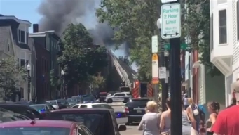 Raw Video: Charlestown Fire