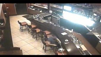 Man Caught on Camera Stealing Pats Helmet