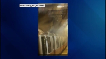 Overheated Motor Causes Smoke on MBTA Train