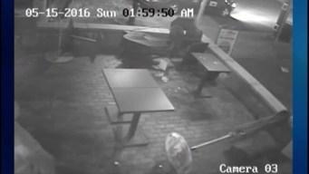 Surveilance Footage: Man Destroys Property Over Burger