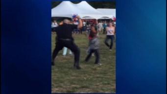 Framingham Police Officer Dances with Kids