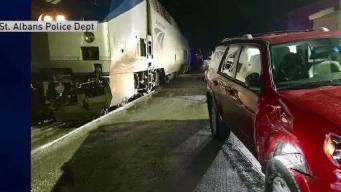 SUV Hit by Amtrak Train Pulling Into Rail Yard in Vt.