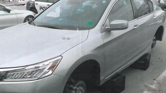 Rims and Tires Stolen From Cars in Manchester