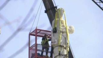 Roman Statue on Top Of Vermont State House Removed