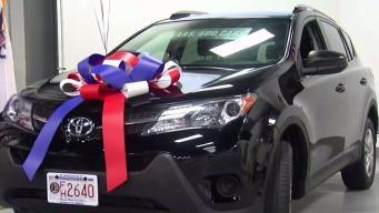 Veteran Receives New Car in Westwood