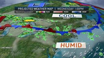 Humidity Continues, Scattered Storms On Way