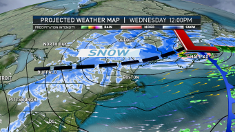 Snow Tapers Off for Most; Northern New England Sees Snow