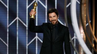 'Thank You, Satan': Bale Takes Home Globe for Cheney Role