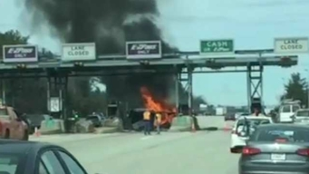 1 Dead After Fiery Crash at NH Tollbooth