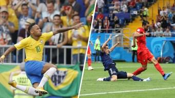 World Cup: Brazil, Belgium Earn Victories
