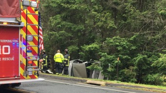 Rollover Crash on Route 10 in Farmington Sends Woman to Hospital
