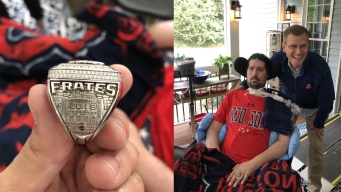 Pete Frates Gets Red Sox World Series Ring